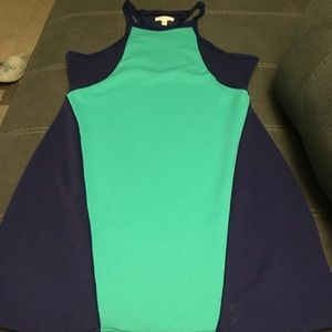 Turquoise and Violet Body Mini Dress